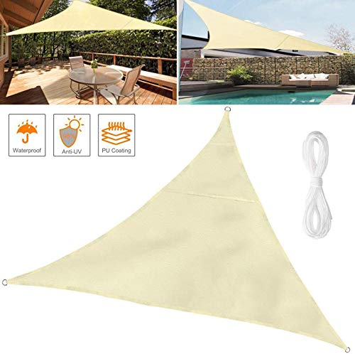 YPYGYB Triangle Sun Shade Sail, Shade Sails Waterproof Rectangle, 95% UV Blockage, With Free Rope Outdoor Garden Patio Party,Rectangle-2x2x2M