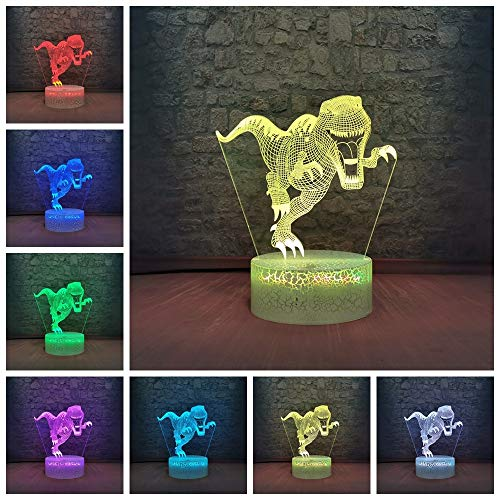 Dinosaur Night Light Jurassic Park Ferozy Animal Night Light RGB Lighting Fans Bedroom Decorative Lamp Child Theme Party Lampshade