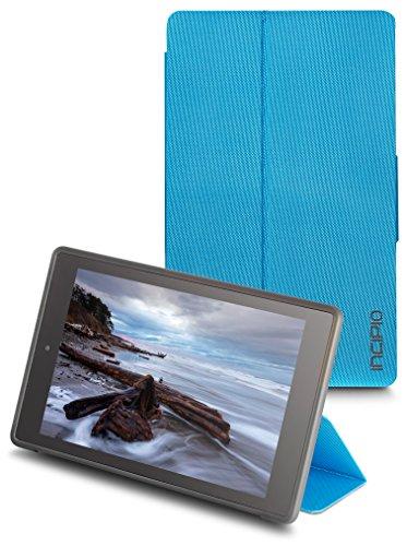 Incipio Clarion Folio Fire HD 8 Case (Previous Generation - 2015 release), Cyan Blue