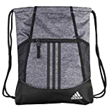 adidas Unisex Alliance II Sackpack, Onix Jersey/Black/White, ONE SIZE