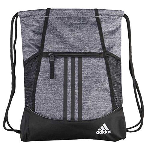 adidas Unisex Alliance II Sackpack, Onix Jersey/Black/White, ONE SIZE