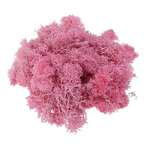 YaptheS El Musgo Artificial para Las Plantas de simulación Moss Flor de la Planta para jardín de césped Crafts decoración de la Boda del Rosa