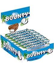 Bounty Chocolatina de Coco Recubierta con un Delicioso Chocolate con Leche, 24 chocolatinas x 57g, 1368 Gramos