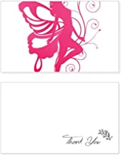 Butterfly with Pink Wing Pretty Angel Thank You Card Birthday Wedding Business Message Set