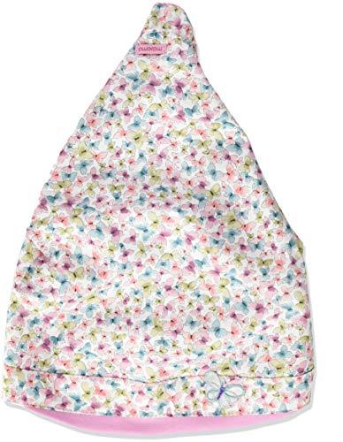 maximo Mädchen Kopftuch Mütze, Mehrfarbig (Altrosa-Baltic-Schmetterling 36), (Herstellergröße: 51)
