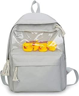 Daypacks Girls Cute Backpack Lightweight Large Capacity Rucksack Mini Duck School Bag Travel Backpack (Color : Gray)