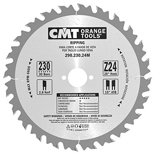 CMT Orange Tools 290,230,24 scie circulaire 230 m x 30 x 2,8 z 24 VTT 20 degrés
