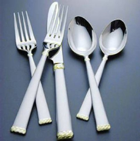Waterford Flatware Celtic Braid Gold & Matte 5 Piece Place Setting(s)