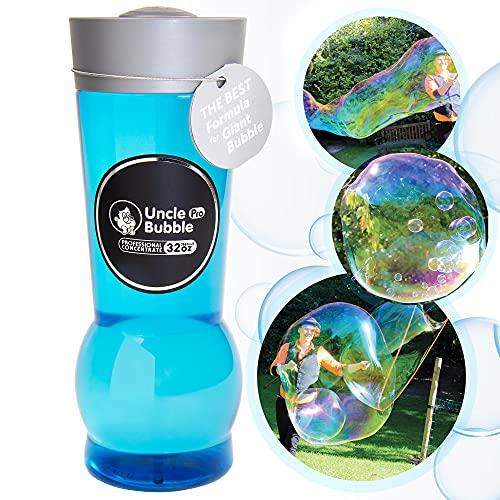 Uncle Bubble 0,94 Litri Concentrato per produrre 9,4 Litri di Soluzione a Bolle per Bacchette giganti. Bolle di Sapone giganti per Bambini e Adulti