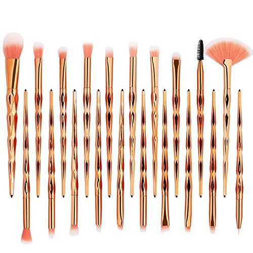 DEELIN Make up Brush Set 20 Stück Make Up Pinsel Set Schmink Pinselset Etui Schminkpinsel Makeup...