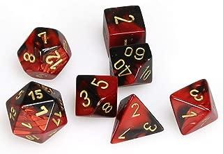 Chessex CHX26433 Dice, Gemini Black-Red/Gold