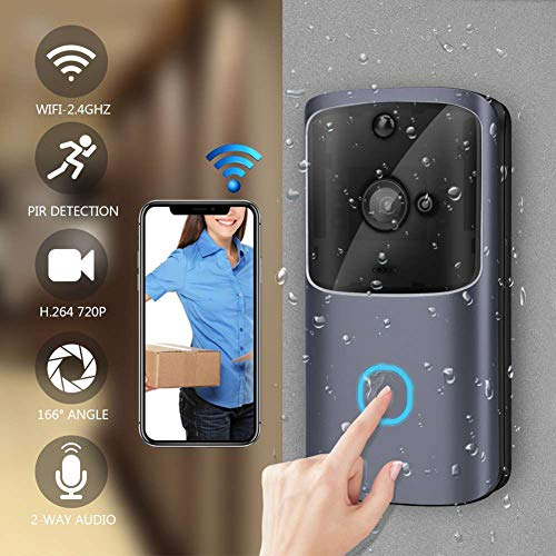 YAOLAN Wireless Video Doorbell Camera with 720P HD, Smart Motion Detection, Best for Home/Hospital/Office