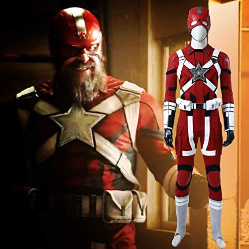 GOLDEN MANGO Película Juego de Roles Disfraces, Marvel Negro Viuda Hermano Guardián Rojo Cos Ropa, Halloween/Carnaval de Ropa Cosplay,S