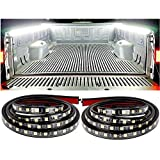L.K.Y Truck Bed Lights Strip 2PCS 60'' Cargo Bed Strip Lamp White Led Truck Bed Lighting with Waterproof ON/Off Switch Fuse 2-Way Splitter Cable for Cargo, Pickup Truck, Boat .