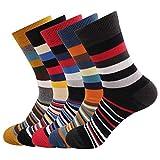 Ambielly Hombres Gracioso Calcetines 5 Pares Vistoso Algodón Novedad Personal Calcetines Estampado Miedoso Moda Casual Vestido Calcetines (LB00007L)