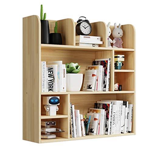 Armoires, modules et étagères Étagère de bureau étagère de table en bois massif étagère étudiant petite étagère rack de stockage multicouche bibliothèque bureau bureau baie vitrée étagère charge 100k