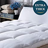Mattress Topper Queen Cooling Plush Pillow Top Mattress Pad/Bed Topper, Hotel Quality Down Alternative Pillow Topper