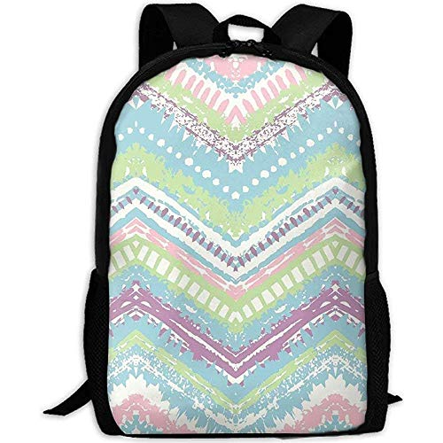 Hdadwy Student Bag,Abstract Colorful Stripe Patterns Adult Travel Backpack School Casual Daypack Oxford Outdoor Laptop Bag College Computer Shoulder Bags