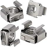 OPIOL QUALITY® Tuercas enjauladas M6 para grosor de chapa 1,7-2,7 mm, acero inoxidable A2 V2A (50...