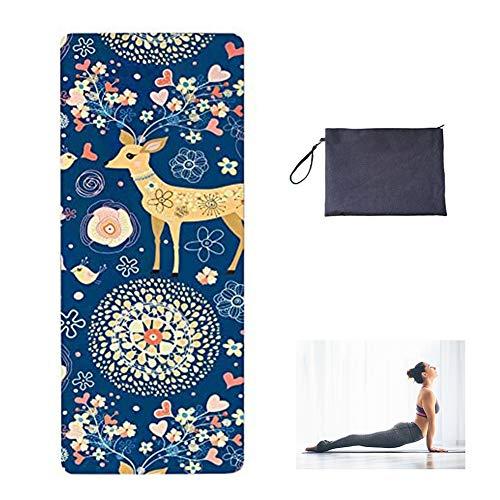 BEILENING Pilatesmatte Gymnastikmatte,rutschfeste Yogamatte rutschfest aus Naturkautschuk,Übungsmatte Sportmatte für Yoga,Pilates,Fitness-183 x 68x 1.5mm