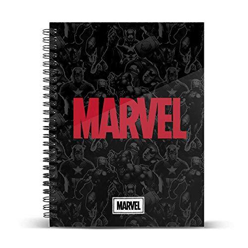 Marvel Timely-Cuaderno Papel Cuadriculado DIN A4