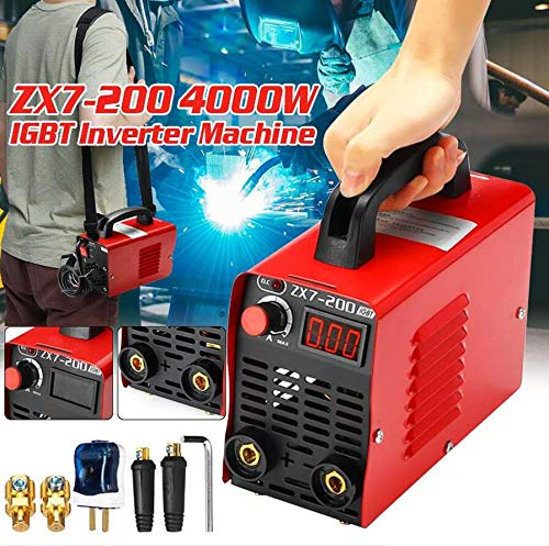 10-200A 4000W Mini inversor portátil de mano MMA IGBT 220V Mini soldadora de máquina herramienta de soldadura por arco eléctrico