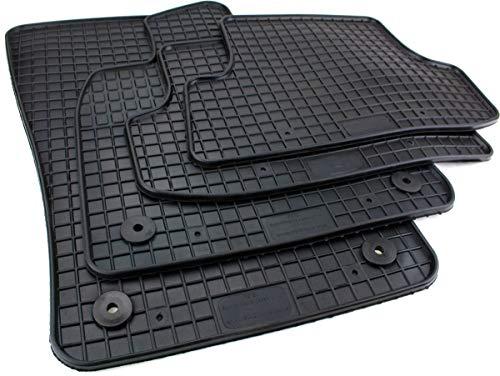 PETEX Gummimatten passend für T-Roc ab 11/2017 Fußmatten schwarz 4-teilig
