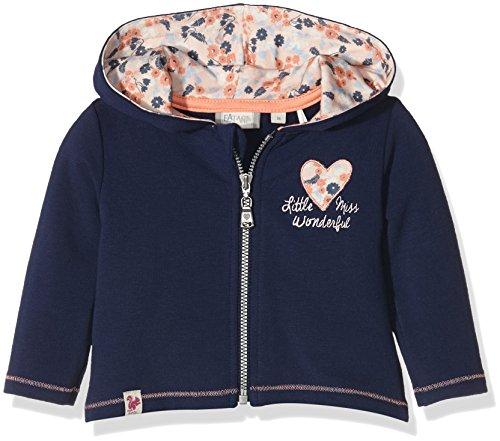 Sanetta Sanetta Baby-Mädchen 113733 Kapuzenpullover, Blau (Swallow Blue 50192), 56