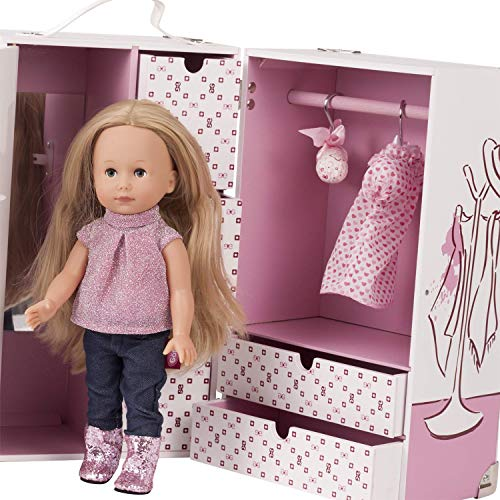 Götz 3403038 Schrankkoffer Karl - Just Like Me Edition - 14-teiliges Puppen & Puppenzubehör-Set - bestehend aus 27 cm Just Like Me Stehpuppe & Zubehör
