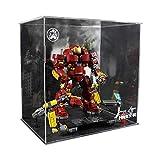 Nlne Funda De Acrílico para Lego Hulkbuster, A Prueba De Polvo, Caja De Exposición Compatible con Lego 76105 (Modelo No Incluido)