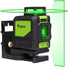 Huepar 901CG Self-Leveling Laser Level, 360 Green Beam Cross Line Laser Tool, Alignment..