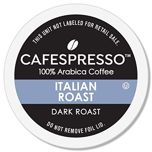 CAFESPRESSO Italian Roast Blend for K Cup Keurig 2.0 Brewers, Dark Roast Single Serve Coffee Pods, (Packaging May Vary),0.39 Ounce (Pack of 80)