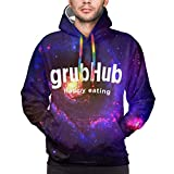 XCNGG Sudadera con Capucha para Hombre Suéter para Hombre Mens 3D Printed Grubhub Pullover Hoodies Long Sleeve T-Shirts