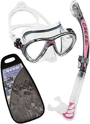 Cressi Big Eyes Evolution & Alpha Ultra Dry - Premium Kits de Randonnée Aquatique/Plongée pour Adulte