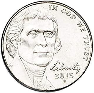 2015 P & D BU Jefferson Nickel Choice Uncirculated 2 Coin Set US Mint