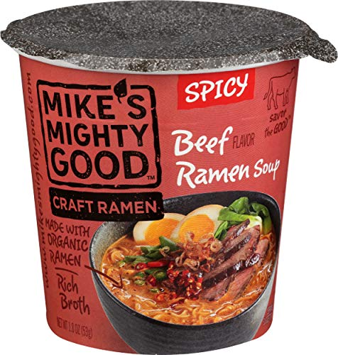 MIKES MIGHTY GOOD Spicy Beef Ramen Cup, 1.8 Ounce