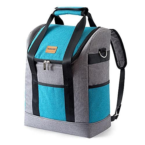GO-AHEAD Mochila Cuerdas Mochila de Picnic térmica de Gran Capacidad 23L Bolso refrigerador 900D Oxford Oxford Paquete de Hielo Bolso Aislado (Color : Style A)