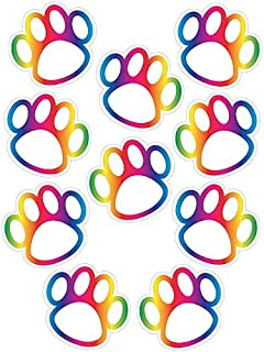 Teacher Created Resources Rainbow Paw Prints Accents