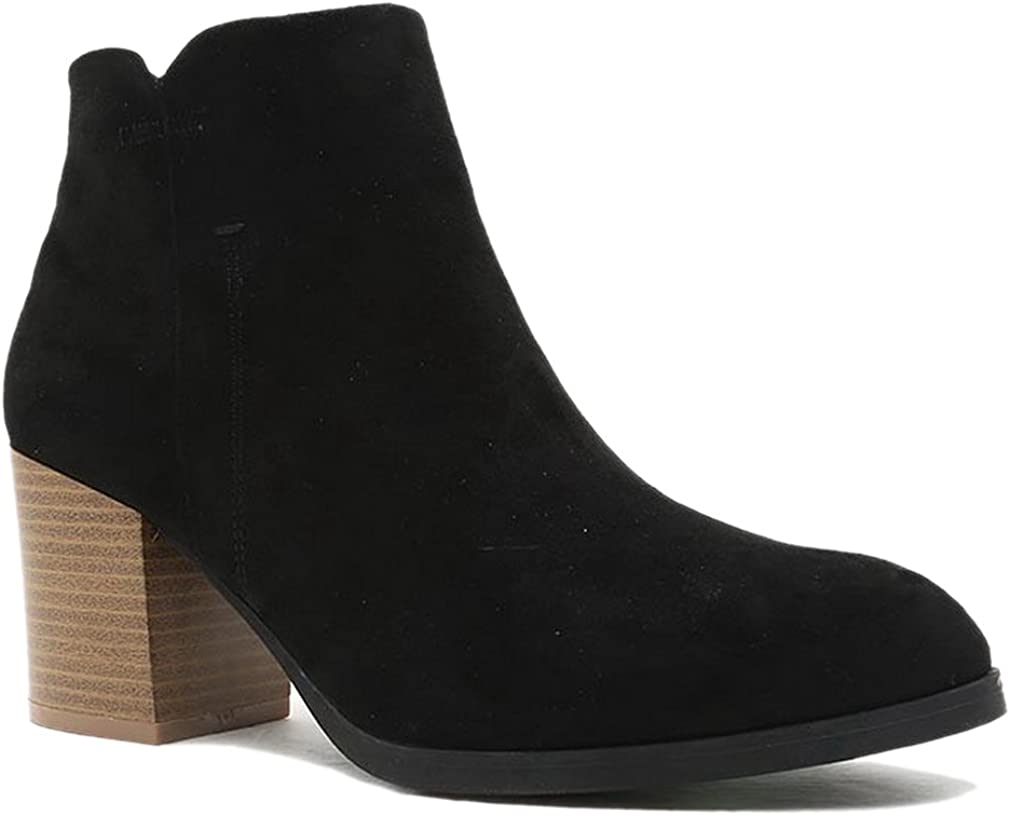 Giovani Donne Women Cut Out Bootie Lace Up Slip On High Heel Platform Wedge Ankle Bootie