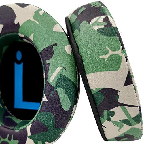 misodiko [Upgraded Comfy] Memory Foam Ear Pads Cushions - Camo Protein Leather-Suitable for Large Over The Ear Headphones - Compatible with Razer Kraken X, BlackShark 1.0, BlackShark V2X, Nari