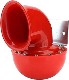 Aramox Air Horn, 12V Metal Red Electric Bull Air Horn Super Loud Noise Horn Alarm Siren Universal for Car Truck Boat Motorcycle