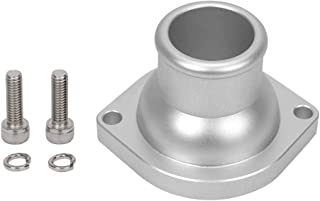 HiwowSport Billet Aluminum Thermostat Housing for Chevy,GMC,LS Series Silver