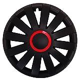 Autoteppich Stylers (Größe wählbar) 15 Zoll Radkappen/Radzierblenden AGAT Race ROT passend für Fast alle Fahrzeugtypen – universal