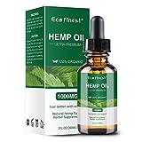 ECO finest Hemp Oil 1000mg - Pain Relief Anxiety Sleep Mood Stress Pure Natural Organic Hemp Seed Extract (1000mg)