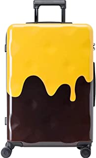 NJC Trolley Case, Cheese Chocolate Contrast Suitcase, Men's and Women's Zipper Suitcase