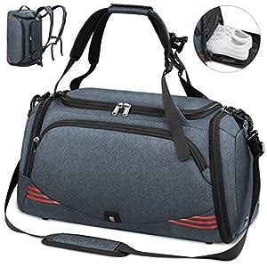 NUBILY Bolsa Deporte Hombre Bolsas Gimnasio Mujer Bolso Fin de Semana Viaje con Compartimento para Zapatos Gym Bag…