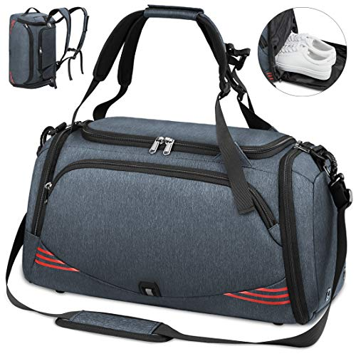 51WQ9jAJBBL - NUBILY Bolsa Deporte Hombre Bolsas Gimnasio Mujer Bolso Fin de Semana Viaje con Compartimento para Zapatos Gym Bag…