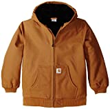 Carhartt Little Boys' Toddler Active Jacket, Carhartt Brown, 2T