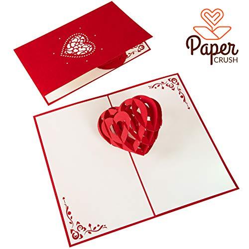 PaperCrush® Pop-Up Karte 3D Herz - Romantische Geburtstagskarte für Sie und Ihn, Besondere Liebeskarte zum Hochzeitstag, Jahrestag oder Geburtstag für Frauen und Männer (Ich Liebe Dich)