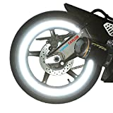 customTAYLOR33 (All Vehicles White/Silver/Chrome High Intensity Grade Reflective Copyrighted Safety Rim Tapes (Must Select Your Rim Size), 17' (Rim Size for Most SportsBikes)